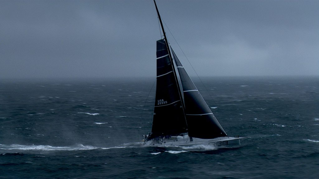 aerial filming the rolex fastnet race using a helicopter and cineflex camera system