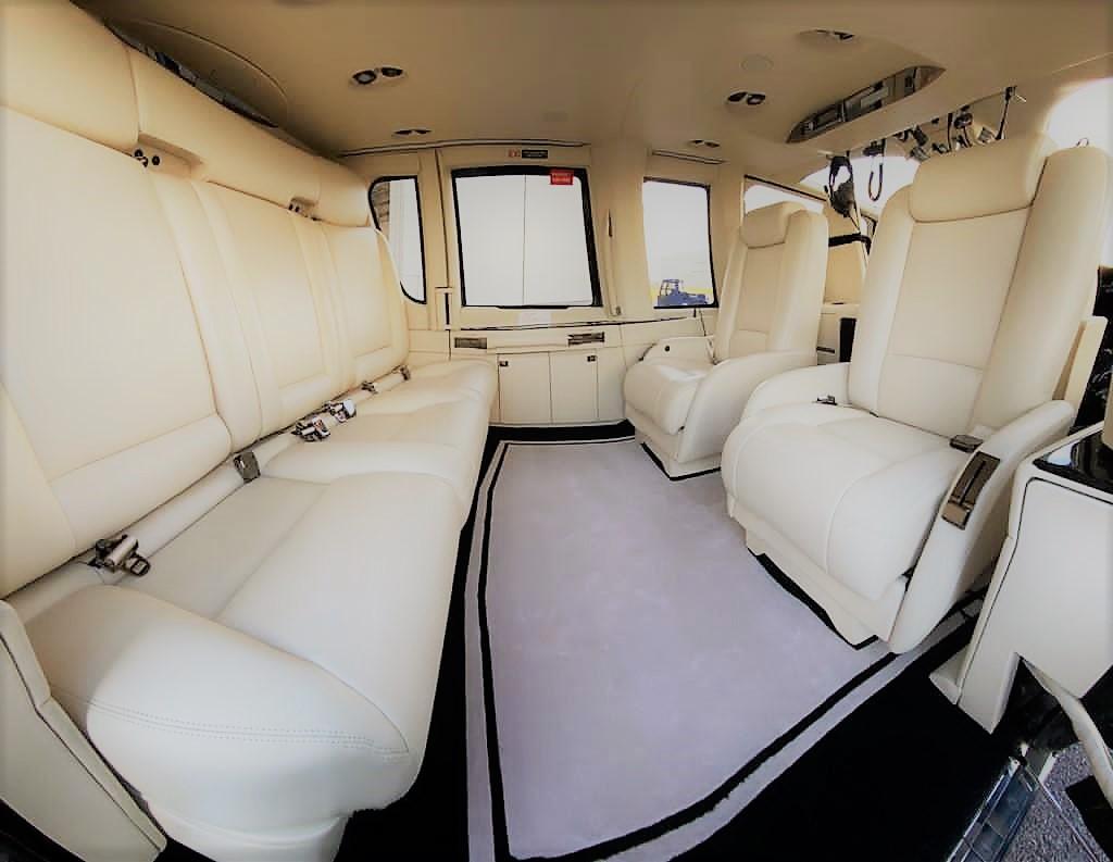 luxury leather interior of EC155